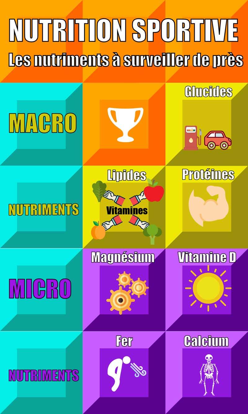 Nutrition sportive Infographique
