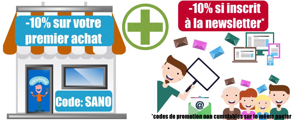 Promotions compléments alimentaires sanowave